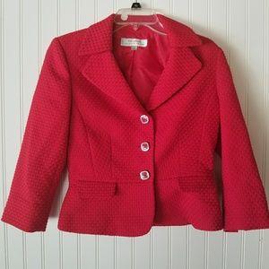 Gorgeous Tahari Arthur S. Levine Red Blazer